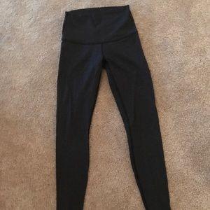 Black patterned lulu leggings